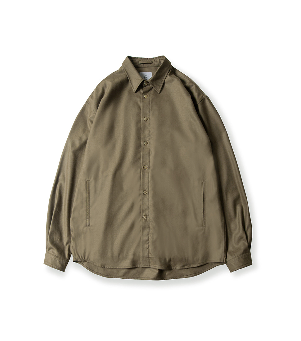 Oversized Shirt - Dark Beige
