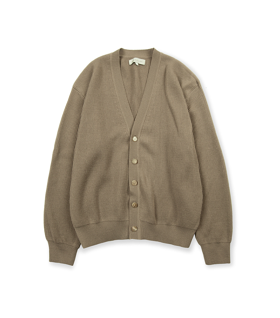 Essential Cardigan - Dark Beige