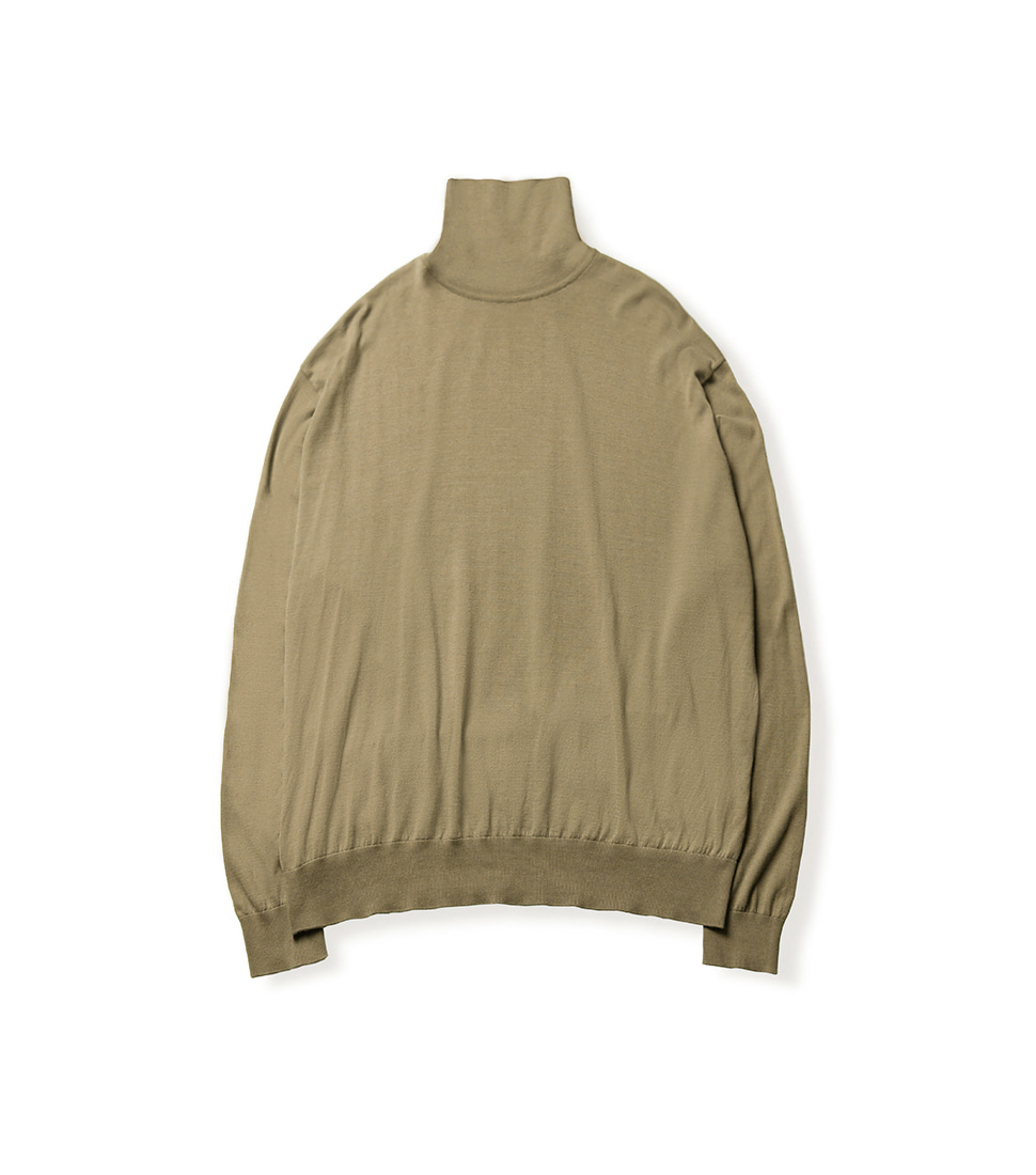 High Gauge Turtleneck - Dark Beige