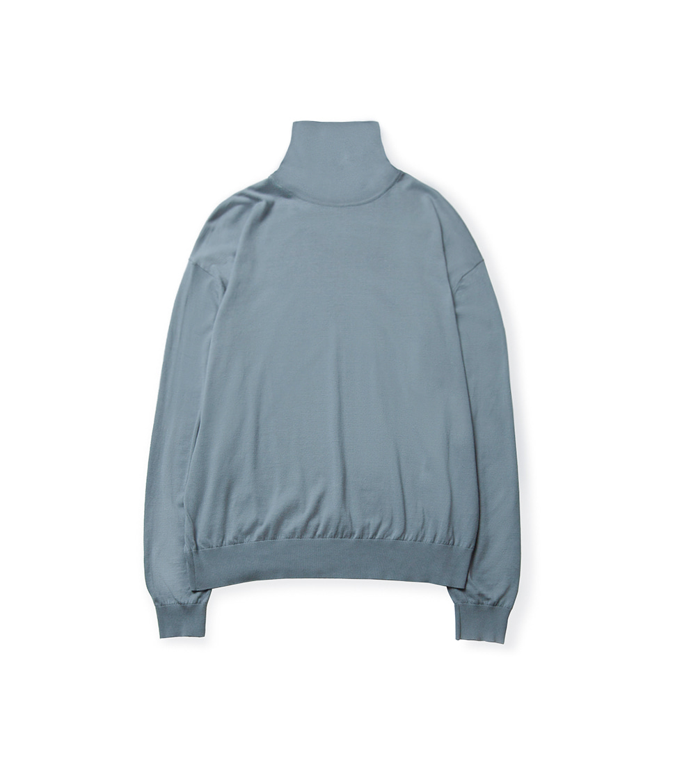 High Gauge Turtleneck - Sky Blue