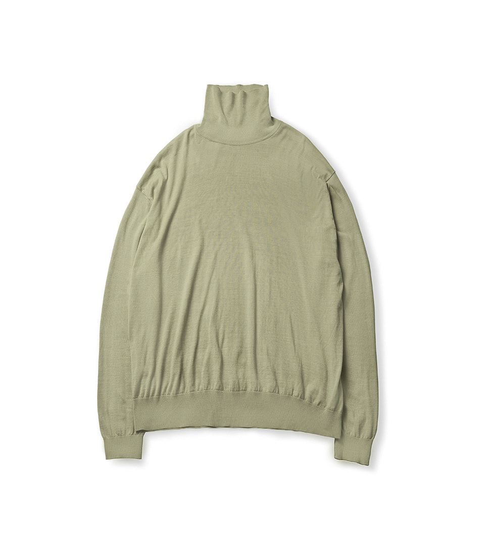 High Gauge Turtleneck - Light Olive