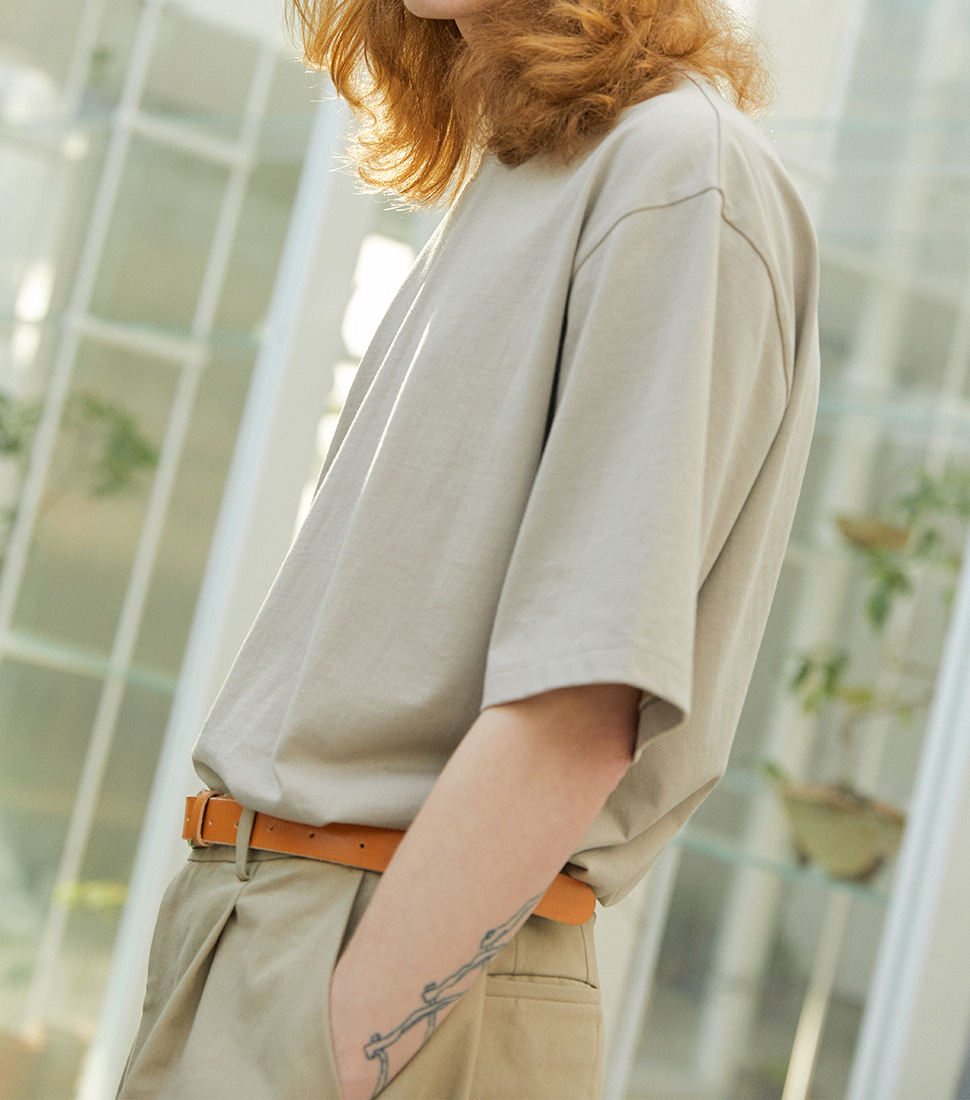 Essential T Shirt - Light Beige