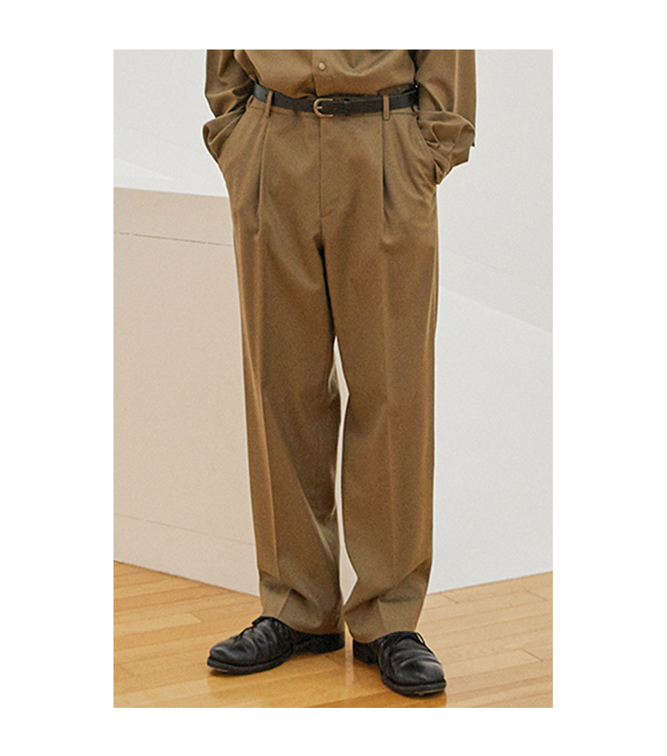 Wide Pants - Dark Beige