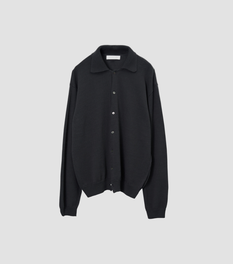Collar Cardigan - Ink Black
