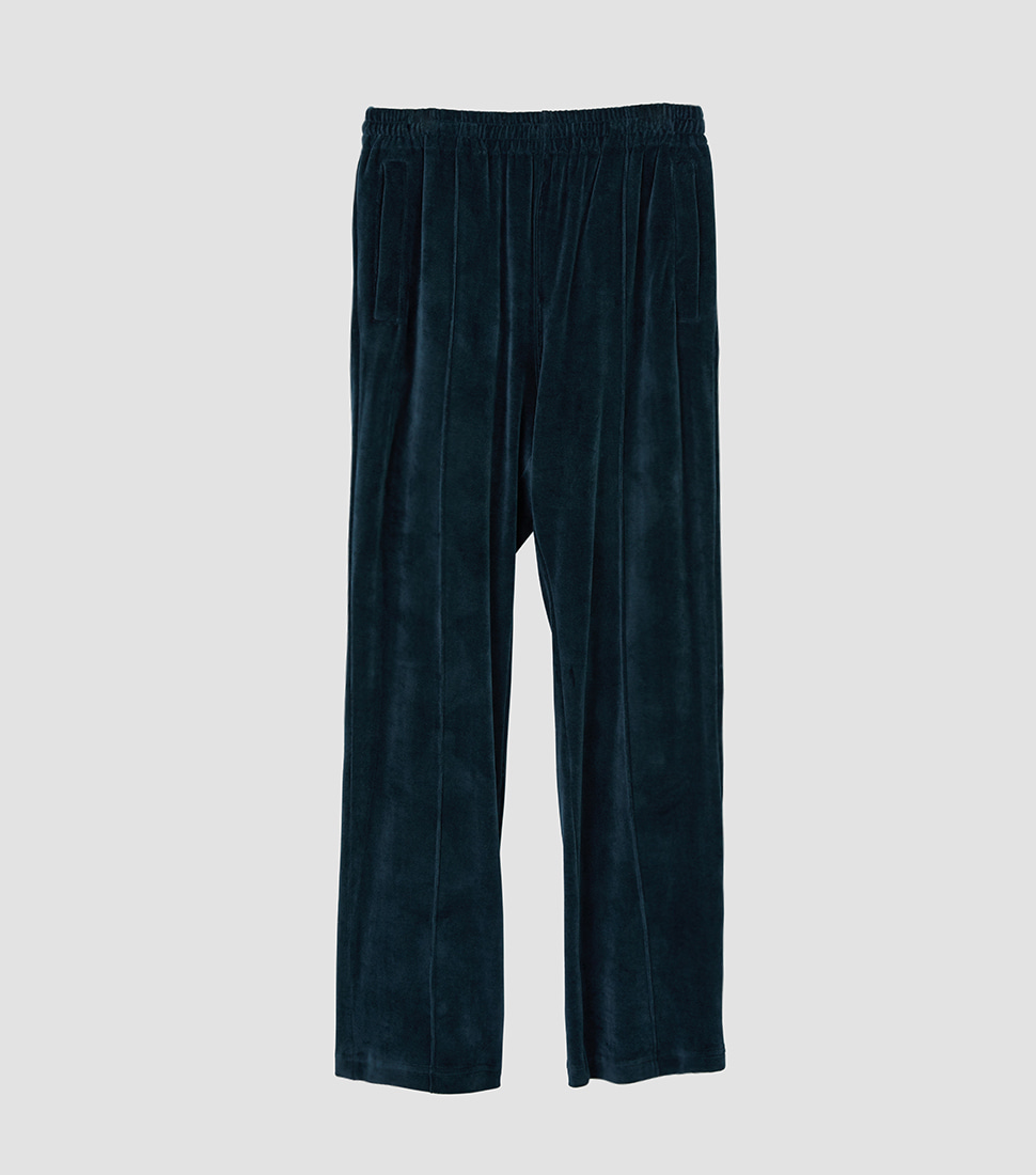 Velour Track Pants - Deep Green