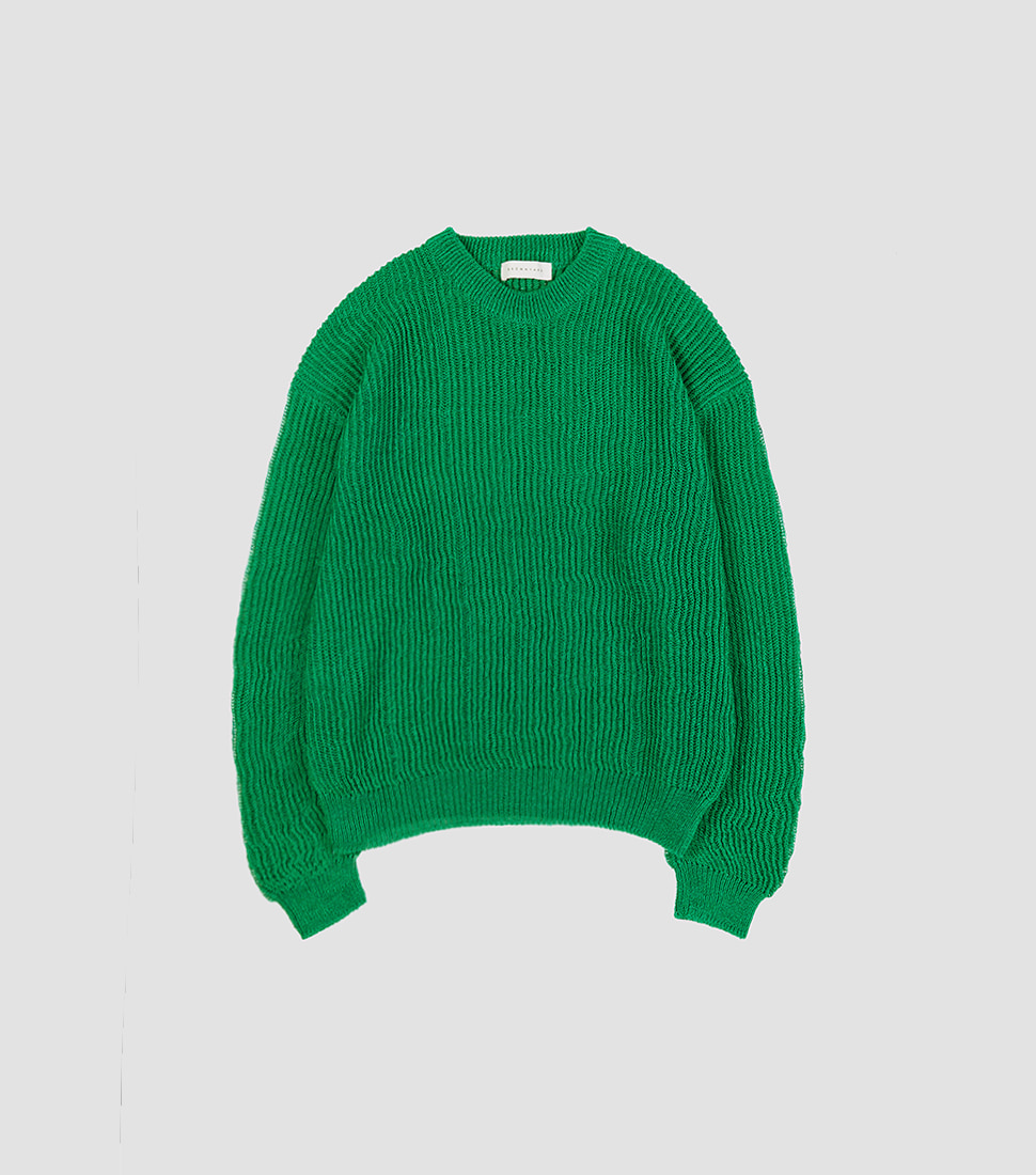 Net Sweater - Green