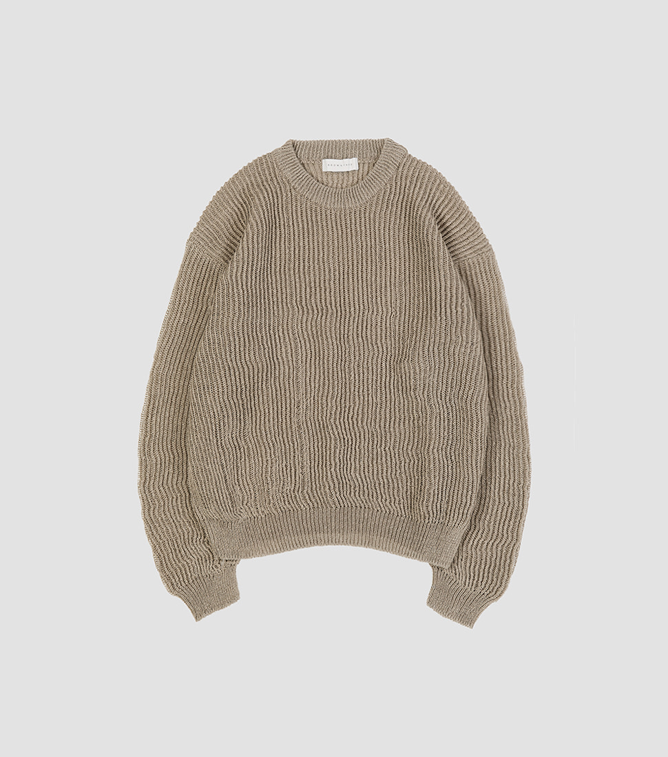 Net Sweater - Vintage Khaki